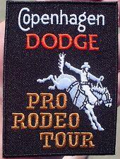 COPENHAGEN DODGE PRO-RODEO TOUR CLOTH PATCH RARE!