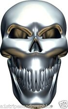 SMALL CHROME SKULL Hood decal Window Decals Stickers Graphics EZGO Club Go Cart