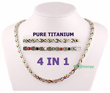Pure Titanium Germanium Magnets necklace Power Energy Bio Balance 4in1 Halskette