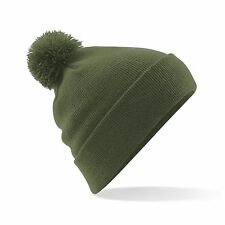 Bobble Hat Beanie Wooly Winter Womens Mens Ladies Knitted Ski Warm Hat Free PnP
