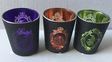 YANKEE CANDLE HALLOWEEN SILHOUETTES LOT OF 3 VOTIVE OR TEA LIGHT CANDLE HOLDERS