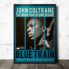 John Coltrane arte cartel Música Blues Jazz Blue Note