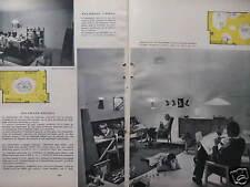 PUBLICITÉ 1956 DIFFUSEUR ROTAFLEX ATELIERS DISDEROT LAMPADAIRE CAILLETTE RHODOÏD