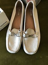 Geox respira super comfy white loafers size 39 UK 6/7 worn once RRP £90