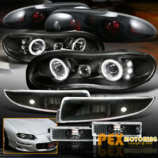 CHEVY Camaro Halos Projector LED Black Headlights+Signals+ Dark Smoke Tail Light