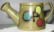 Vintage Ceramic Watering Can Herb Garden Pitcher Pottery Lego Made in Japan