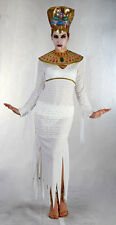 MUMMY EGYPTIAN QUEEN CLEOPATRA HALLOWEEN LADIES COSTUME OUTFIT & HAT 10-12 NEW