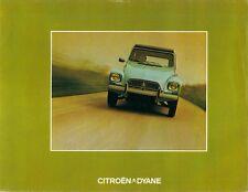 Citroen Dyane 4 & 6 1973-74 UK Market Foldout Sales Brochure