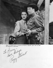 PEGGY STEWART ACTRESS SIGNED PHOTO FROM A BOOK/ COA