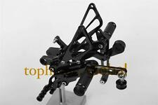 CNC Black Foot pegs Rearsets Rear set For Yamaha YZF R6 R600 2006-2014 2011 2012