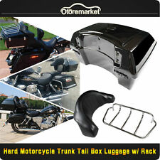 Motorcycle Trunk Luggage Case Tail Box Rack Backrest for Harley Touring Cruiser