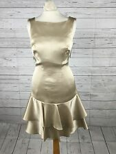 Womens Karen Millen Champagne Cocktail Dress - Size Uk8 - Brand New With Tags
