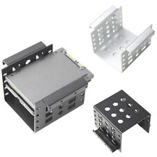 """4 Bay Converter Adapter Mounting Bracket For 2.5"""" to 3.5"""" HDD SSD Hard Drive Use"""