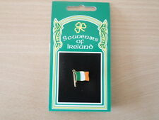 IRELAND IRISH REPUBLIC ARMY GREEN WHITE ORANGE TRICOLOR ENAMEL LAPEL PIN BADGE