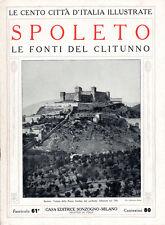 SPOLETO. LE FONTI DEL CLITUNNO – LE CENTO CITTÀ D'ITALIA ILLUSTRATE – STORIA