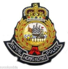 HONG KONG POLICE OFFICER HAT CAP BADGE NEW HAND EMBROIDERED CP MADE FREE SHIP US