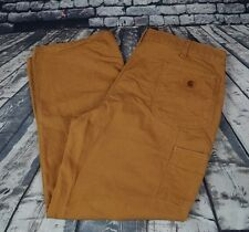Carhartt Washed Duck Work Dungaree Pants Cotton Canvas B11 Brown Mens 40 x 30