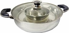 Tayama Stainless Steel Shabu Hot Pot with Middle Bowl Divider & Concave Bottom
