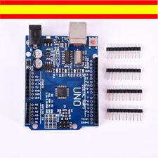 ARDUINO UNO R3 COMPATIBLE. ATMEGA328P  CH340G  + PINES -  SIN CABLE USB