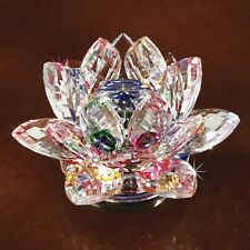 Faceted Crystal Lotus Blossom Spinner Figurine NEW in Box Deluxe Sale!