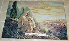 O Jerusalem ~ Jesus on Hillside Crafters Tapestry Wall Hanging Fabric Remnant