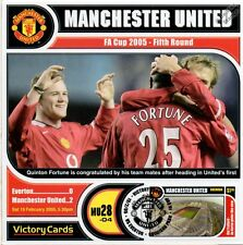 MAN U 2004-05 Everton (Fortune & Rooney) Football Stamp Victory Card #428
