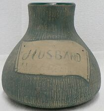 "RED WING POTTERY STONEWARE BLUE BRUSH 7 "" HUSBAND VASE"