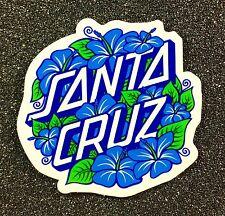 Santa Cruz Hibiscus Dot Skateboard Sticker 3in Hand NHS si
