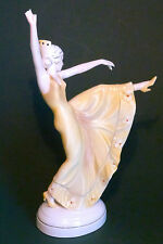 LOVELY VINTAGE KATZHUTTE ART DECO PORCELAIN DANCING SPANISH LADY FIGURINE