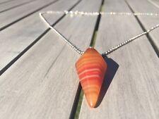 Pendolo cristallo chakra guarigione rabdomanzia Reiki pendente catena collana corniola