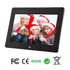 UK 10inch HD Digital Photo Movies Frame MP4 Player Alarm Clock + Remote Black