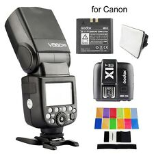 Godox V860C II V860II-C + Transmitter X1TC for Canon With Color Filter + Softbox
