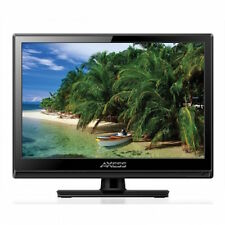 """NEW 13"""" HDTV Flat Screen LED LCD TV AC and DC/Car Power Cord Remote Control"""