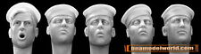 Hornet 1/35 5x Heads with US Navy Sailor Caps (for many other Navies) #HUH05