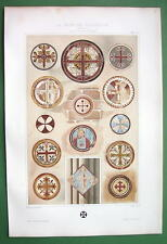 ROMANESQUE Church Wall Paintings France & England - COLOR Litho Print