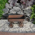 Miniature Fairy Garden Primitive Rustic Tin Wagon
