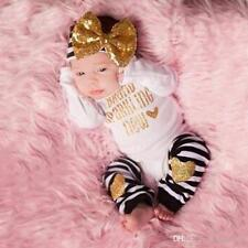 Baby girl clothes, baby girl set, brand sparkling new 3 piece set newborn outfit