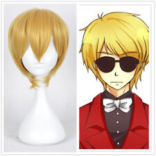 New Anime Homestuck Dave Strider Short Yellow Blonde Cosplay Wig/Wigs