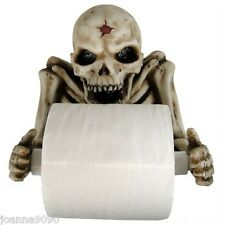 NEMESIS NOW SKELETON TOILET ROLL HOLDER HALLOWEEN DECORATION BATHROOM GOTHIC NEW
