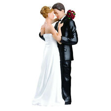Romance Couple Cake Topper Wedding Ceremony Bride Groom Marriage Resin Figurine