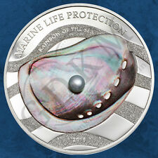 Palau - Marine Life Protection - Rainbow of Sea - Pearl - 5$ 2015 PP - Silber