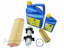 BMW 320D E46 OIL AIR FUEL DIESEL FILTER & ENGINE OIL 5W30 L/LIFE 6LT SERVICE KIT