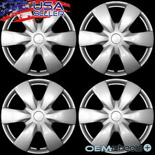 "4 NEW OEM SILVER 15"" HUB CAPS FITS CHRYSLER CAR VAN ABS CENTER WHEEL COVERS SET"
