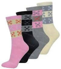 3 Pairs Ladies Fairisle Design Thermal Socks Warm Winter Extra Thick Hiking Boot
