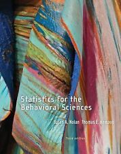 Statistics for the Behavioral Sciences, 3RD ED. INSTRUCTOR REVIEW COPY/EDITION