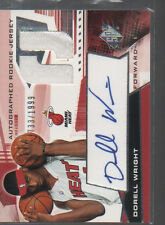 DORELL WRIGHT 2004-05 SPX ROOKIE CARD JERSEY AUTO CARD #123 /1999
