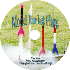 156 Model Rocket Plans on CD, Centuri Fat Cat Canaroc Customs Rocketry Tools