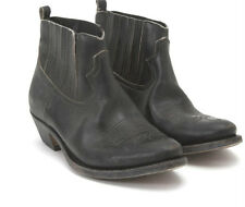 GOLDEN GOOSE BOOTS BLACK CROSBY SIZE 39 THIS SEASON WITH RAW LEATHER ACCENT