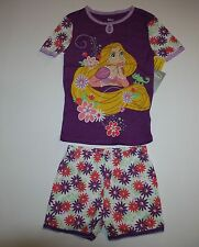 NEW Disney Princess Rapunzel & Chameleon 2 Pc PJs Summer Pajamas NWT Size 7 Year