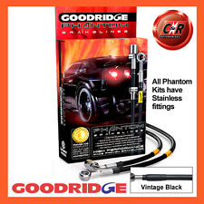 Peugeot 106 1.4+i/1.4-1.5D 91on Goodridge SS V.Black Brake Hoses SPE0102-4C-VB